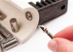 Bridges and Crowns cemented on the Abutments CAD / CAM in Titanium
